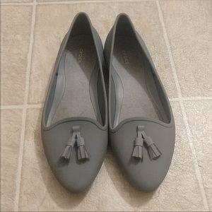 Ladies size 7 grey crocs(rain shoes)